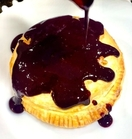 Baked Camembert with a Blackberry Basil Coulis
