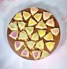 rainbow tahini cheesecake hamantaschen